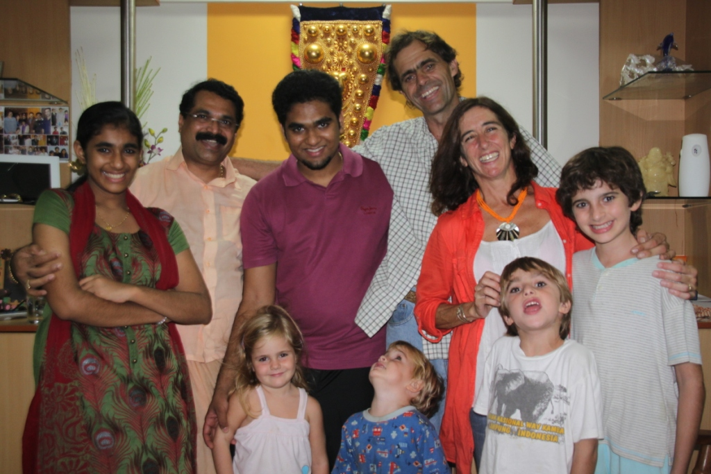 Sebastian Family, Mumbai, our hosts