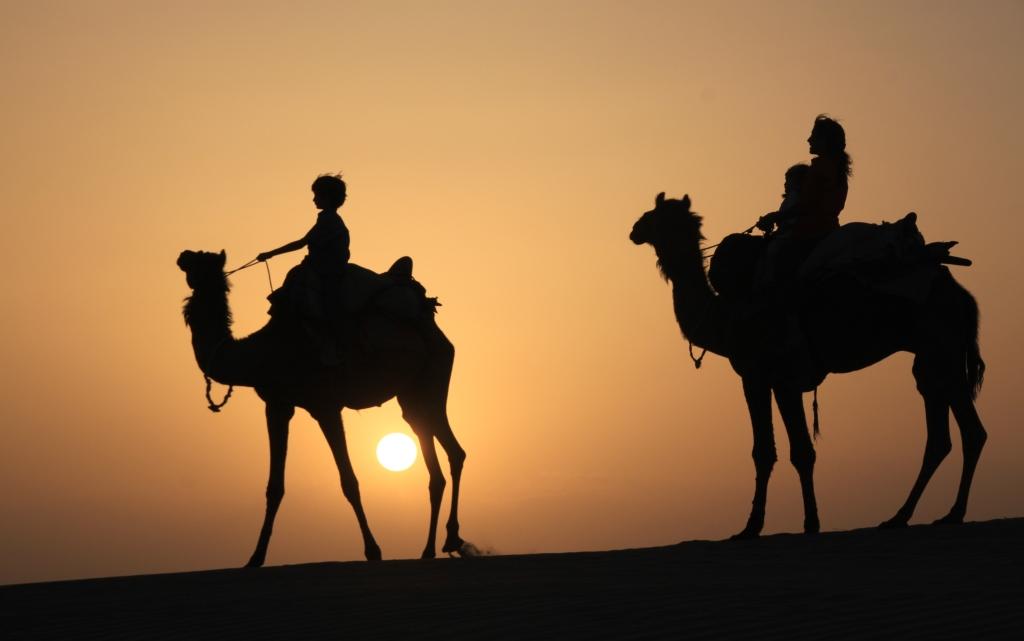 Desierto en Jaisalmer, Rajasthan, India
